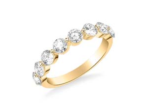 ArtCarved 14K Yellow Gold Shared Prong Diamond Band