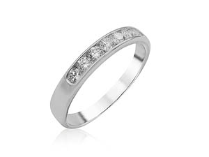 Alson Signature Collection 14K White Gold Channel Set Diamond Band