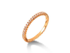Bez Ambar French Set Diamond Eternity Band, Fashioned in 18K Pink Gold, Featuring Forty-Six Round Diamonds =.40cts Total Weight