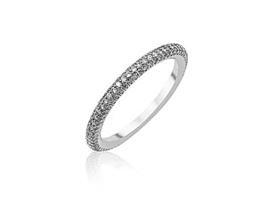 Alson Special Value, this 18K White Gold and Diamond Ring/Band Features One Hundred and Sixty Round Diamonds =.55cts Total Weight