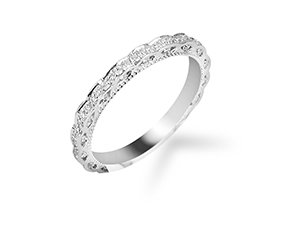 Bez Ambar Factori Diamond Eternity Band, Fashioned in 18K White Gold, Featuring Ninety Round Pave Set Diamonds =.45cts Total Weight
