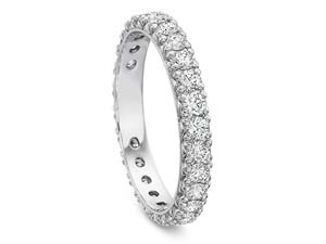 Precision Set Petite Prong Eternity Band, Fashioned in 18K White Gold, Featruing Twenty-Eight Round Diamonds =1.00ct Total Weight