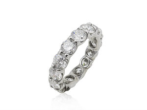 J.B. Star Shared Prong Eternity Band, Fashioned in Platinum, Featuring Fifteen Round Diamonds =4.40cts Total Weight