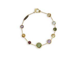 Marco Bicego Jaipur Bracelet, Fashioned in 18K Yellow Gold and Featuring Mixed Semi-Precious Gemstones