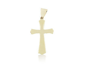 Alson Signature Collection 14K Yellow Gold Polished Cross Charm