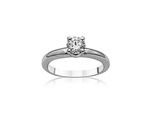 Alson Signature Collection 14K White Gold Diamond Solitaire Engagement Ring