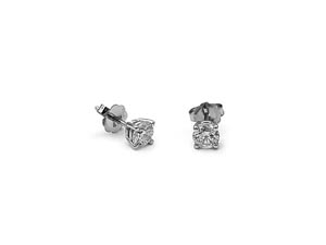 Alson Signature Collection 14K White Gold .50ctw Diamond Stud Earrings