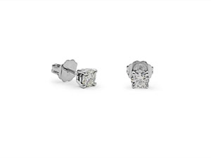 Alson Signature Collection 14K White Gold .53ctw Diamond Stud Earrings