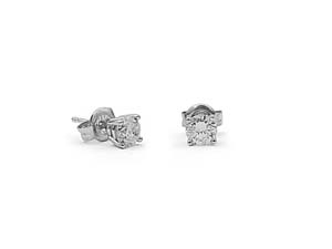 Alson Signature Collection 14K White Gold .72ctw Diamond Stud Earrings
