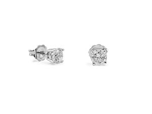 Alson Signature Collection 14K White Gold 1.02ctw Diamond Stud Earrings