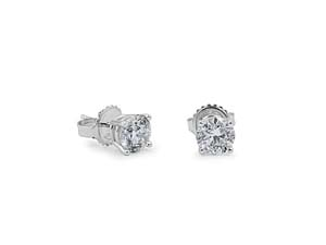 Alson Signature Collection 14K White Gold 1.46CTW Diamond Stud Earrings