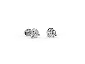 Alson Signature Collection 14K White Gold 1.80CTW Diamond Stud Earrings