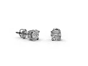 Alson Signature Collection 14K White Gold 1.60CTW Diamond Stud Earrings