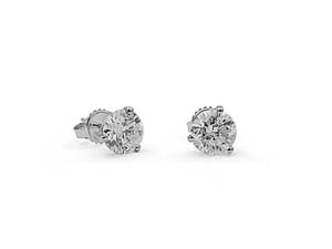 Alson Signature Collection 14K White Gold 3.45CTW Diamond Stud Earrings