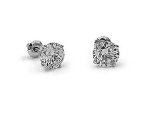 Alson Signature Collection 14K White Gold 4.70ctw Diamond Stud Earrings