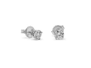 Alson Signature Collection 14K White Gold 1.00ctw Diamond Stud Earrings