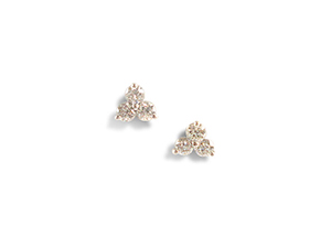 Alson Signature Collection Diamond Cluster Earrings, Fashioned in 14K White Gold, Featuring Six Round Diamonds =.74cts Total Weight, G Color, SI1 Clarity