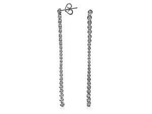 Alson Signature Collection 18K White Gold Diamond Drop Earrings