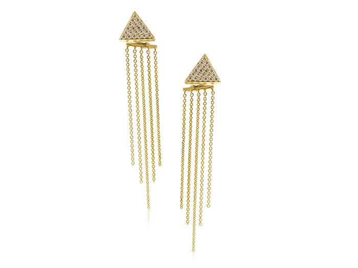 Doves 18K Yellow Gold Diamond Earrings, 42 Diamonds=.58cts Total Weight