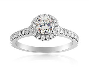 Alson Signature Collection 14K White Gold Diamond Engagement Ring