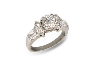 Alson Signature Collection 18K White Gold and Diamond Engagement Ring