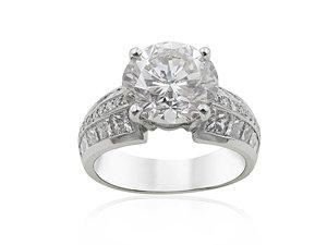 Alson Signature Collection Platinum Diamond Engagement Ring
