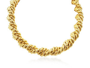 """Alson Estate Collection 18K Yellow Gold 16"""" Twist Necklace"""