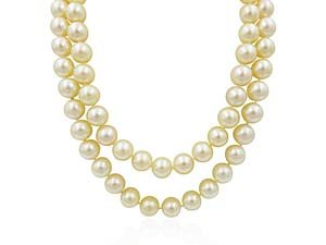 """Alson Estate Collection 24"""" 8-9MM Pearl Strand with 14K White Gold Diamond Clasp"""