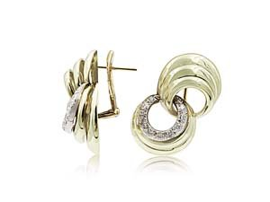 Alson Estate Collection 14K Yellow Gold Diamond Infinity Style Earrings