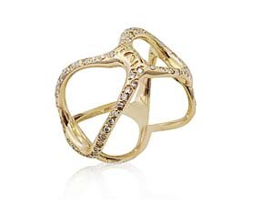 Alson Special Value 18K Rose Gold Diamond Band