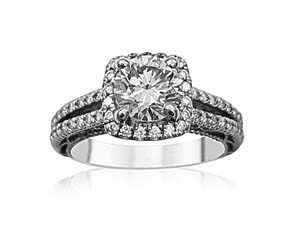 Alson Estate Collection 14K White Gold Diamond Engagement Ring