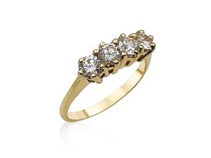 Alson Special Value 14K Yellow Gold Diamond Band