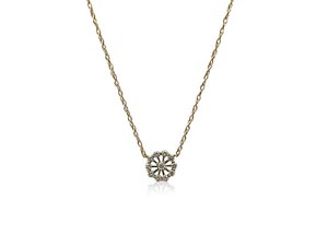 """Alson Special Value 14K Yellow Gold 18"""" Diamond Necklace"""