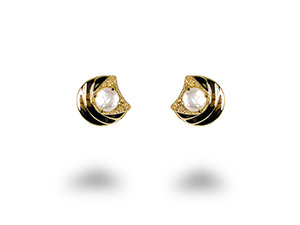Alson Special Value, these 14K Yellow Gold Flat Earrings Feature Pearls