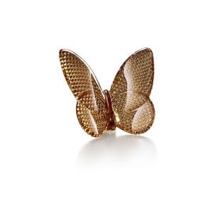 Baccarat Gold Diamond Cut Papillon Lucky Butterfly
