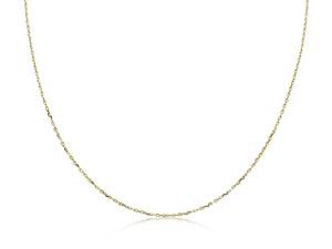 "Monica Rich Kosann 18K Yellow Gold 17"" Diamond Cut Chain"