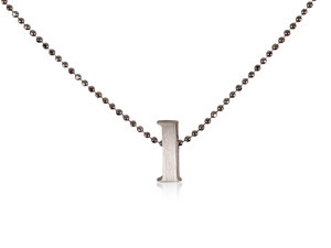 """Alson Special Value Alex Woo Silver """"L"""" Initial Necklace"""