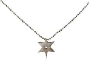 From the Alex Woo Collection, Sterling Silver Little Faith Star Necklace