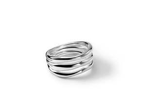 Ippolita Silver Classico Triple Band Squiggle Ring