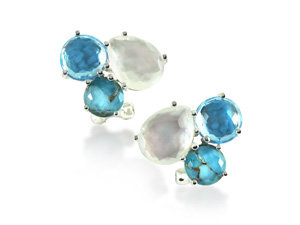 Ippolita Rock Candy Cluster Earrings, Fashioned in Sterling Silver, Featuring the Harmony Color Palette