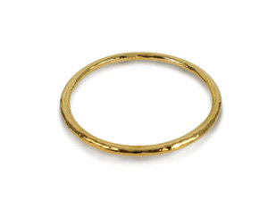 Ippolita Classico 18K Yellow Gold Hammered Bangle Bracelet