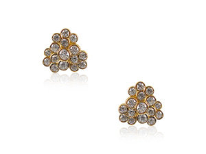 Ippolita Glamazon Stardust Diamond Earrings, Fashioned in 18K Yellow Gold, Featuring Round Diamonds =1.56cts Total Weight
