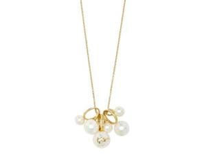 """Ippolita 18K Yellow Gold 30"""" Nova Cultured Freshwater Pearl Cluster Necklace"""