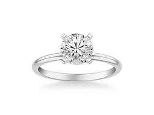 ArtCarved 14K White Gold Solitaire Engagement Ring