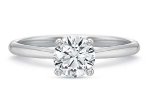 Precision Set 18K White Gold New Aire Solitaire Engagement Ring