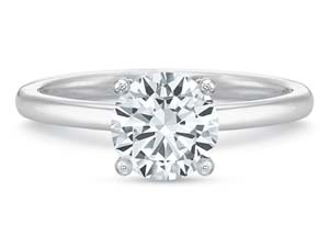 Precision Set 18K White Gold Solitaire Engagement Ring