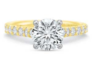 Precision Set 18K Yellow Gold Diamond Engagement Ring