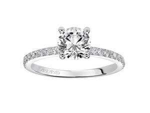 ArtCarved 14K White Gold Diamond Engagement Ring