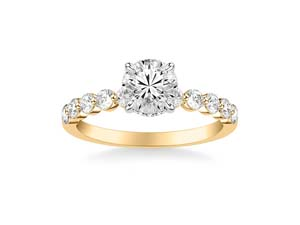 ArtCarved 14K Yellow & White Gold Shared Prong Diamond Engagement Ring