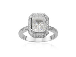 Michael B Jewelry Engagement Ring, Fashioned in Platinum, Featuring 114 Round Diamonds =.80cts Total Weight, Center Stone Sold Separately